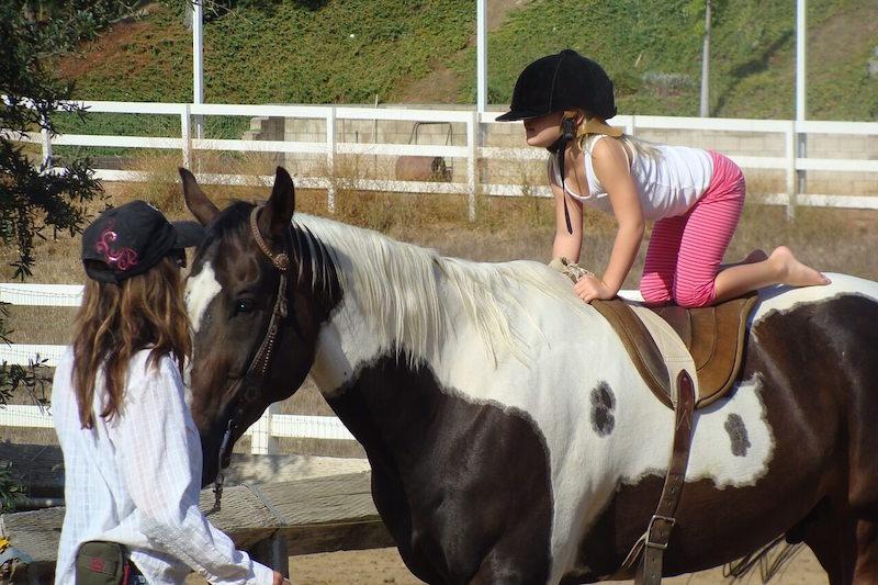 W nauce jazdy konnej ważne jest zachowanie równowagi